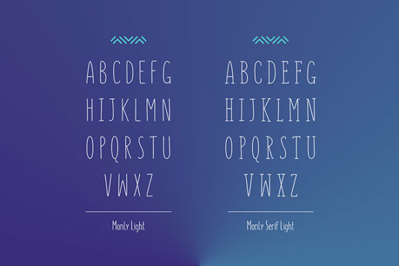 Monly font: Light preview