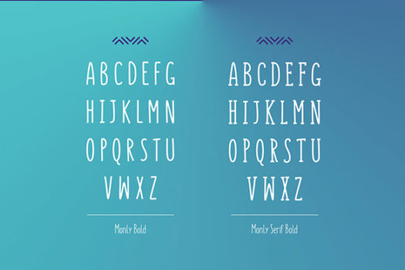Monly font: Bold preview