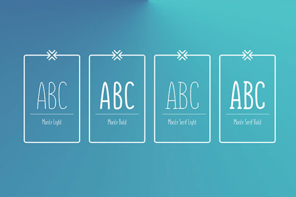 Monly font: Styles