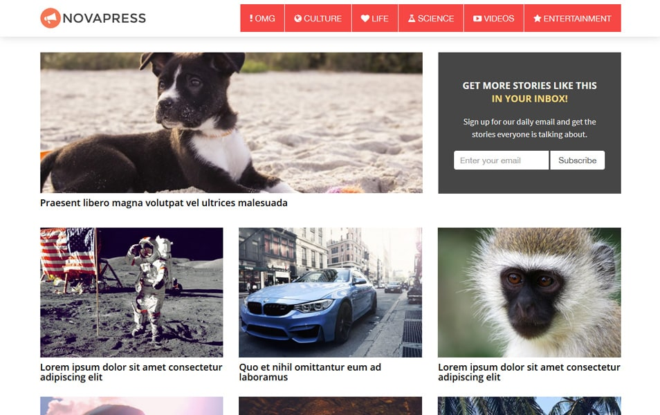 NovaPress Responsive WordPress Theme
