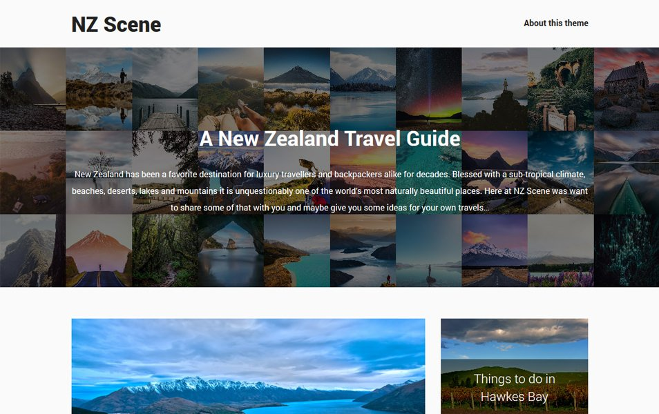 NZ Scene Responsive WordPress Theme