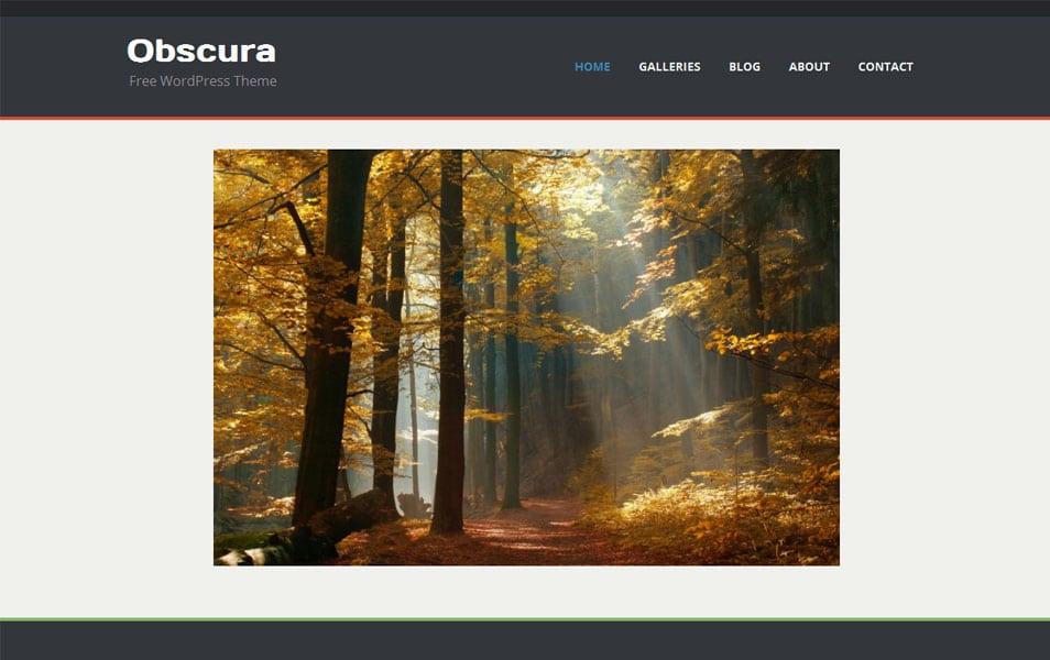 Obscura Free Portfolio WordPress Theme