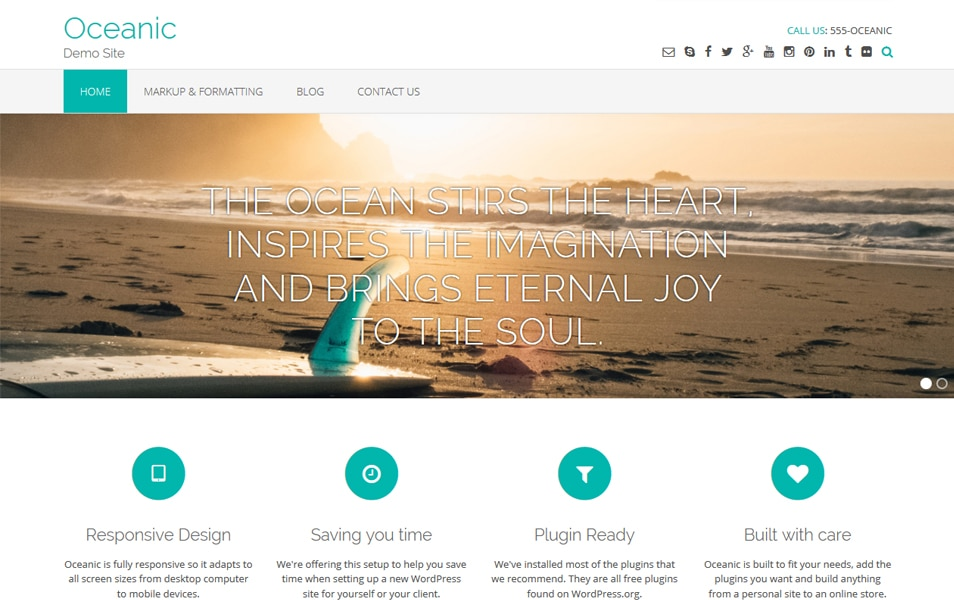Oceanic Responsive WordPress Theme