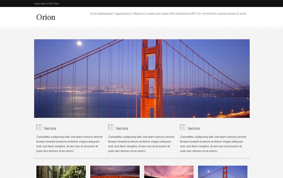 Orion Free Portfolio WordPress Theme