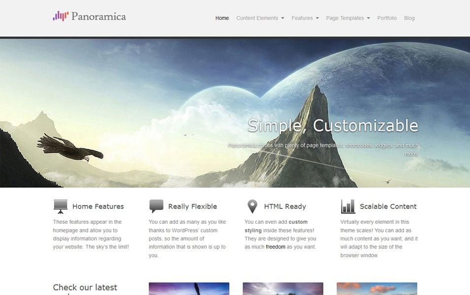 Panoramica Free Portfolio WordPress Theme
