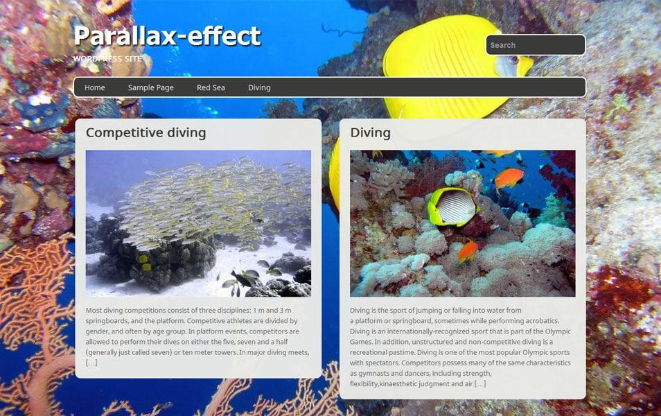 Parallax-effect Free Portfolio WordPress Theme