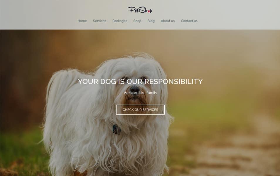 Petshop Responsive WordPress Theme