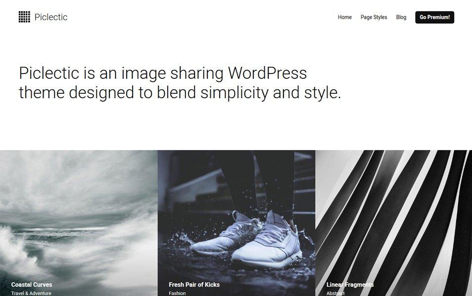 Piclectic Responsive WordPress Theme