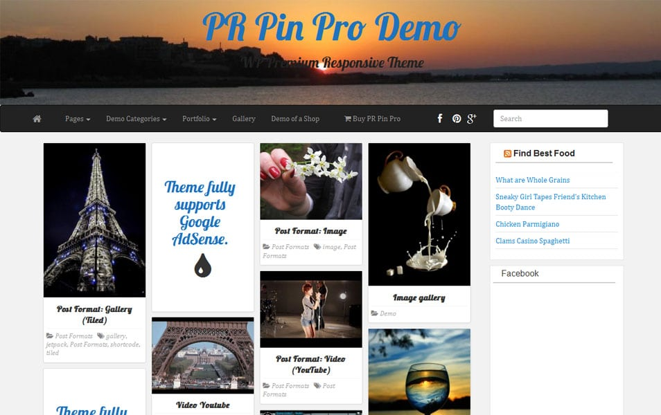 PR Pin WordPress theme