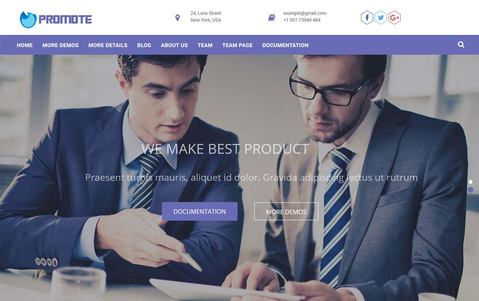 Promote Responsive WordPress Theme