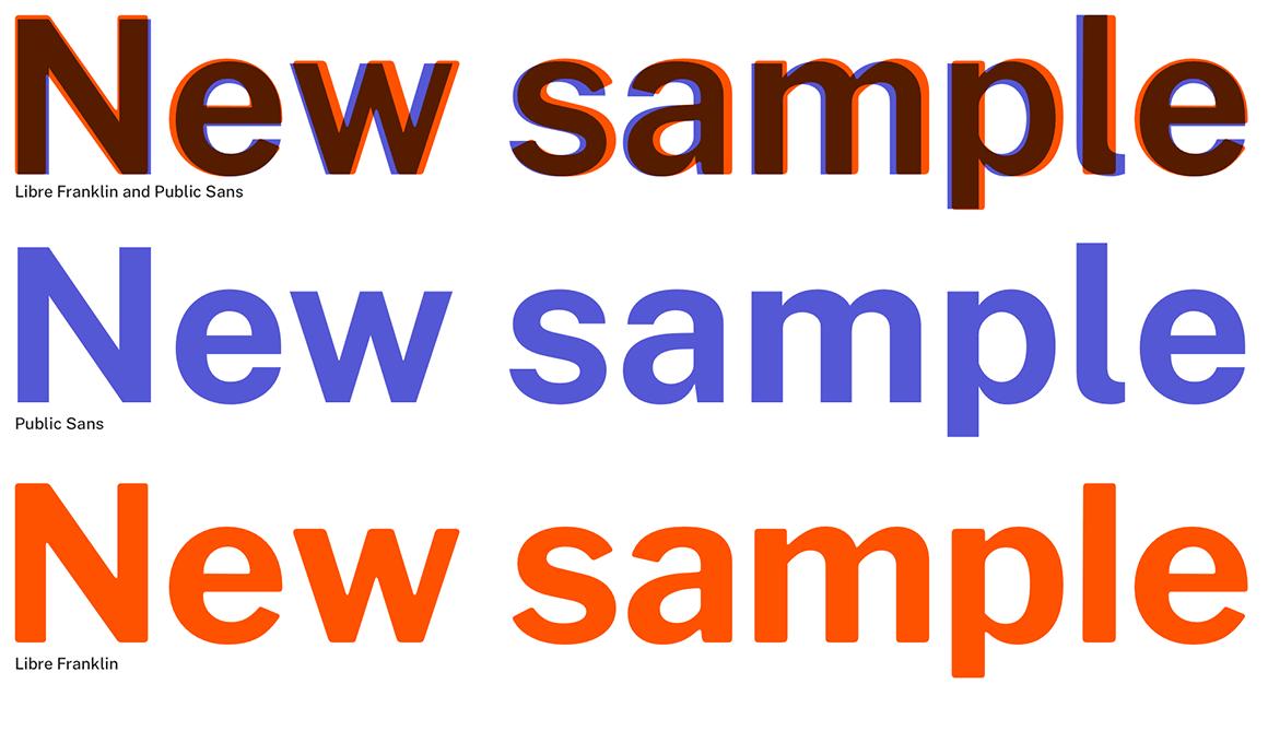 Public Sans comparison