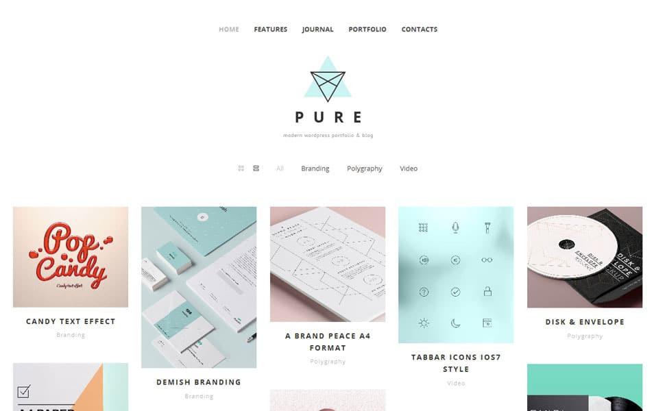 Pure Free Portfolio WordPress Theme
