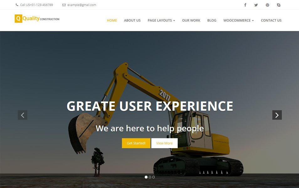 Quality Construction Responsive WordPress Theme