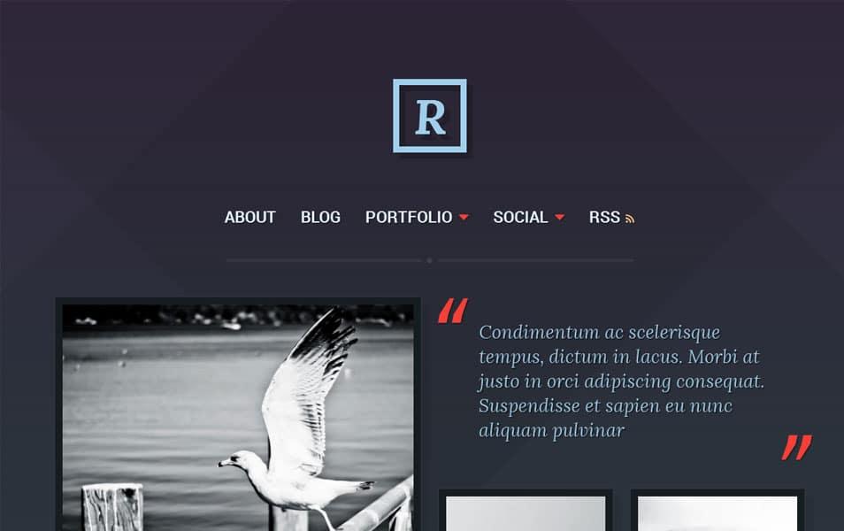 Ravel Free Portfolio WordPress Theme