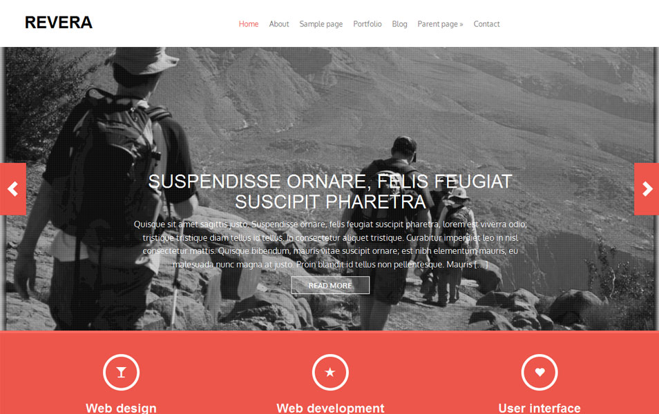 Revera Free Portfolio WordPress Theme
