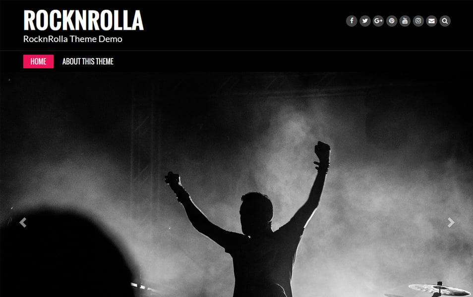 Rock N Rolla Responsive WordPress Theme