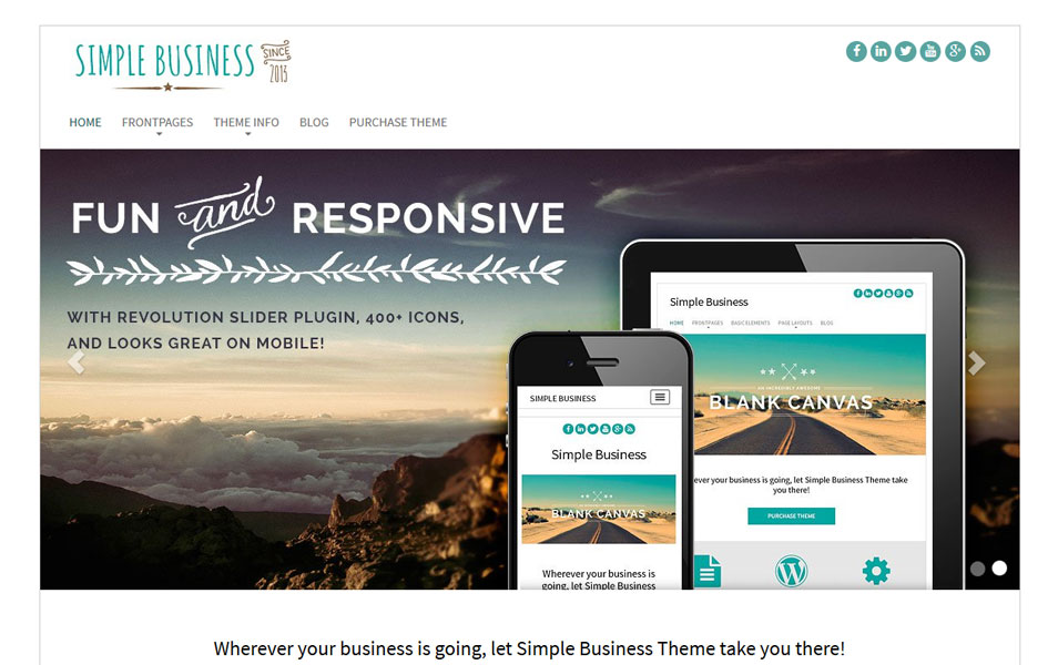 Simple Business WordPress Theme