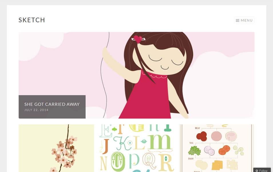 Sketch Free Portfolio WordPress Theme