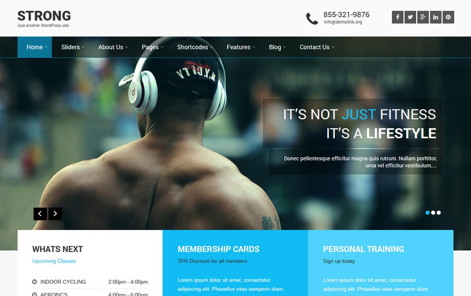SKT Strong Responsive WordPress Theme