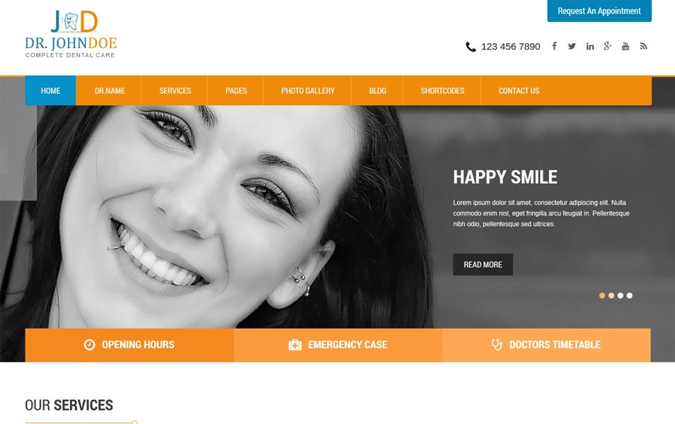 SKT Toothy Responsive WordPress Theme