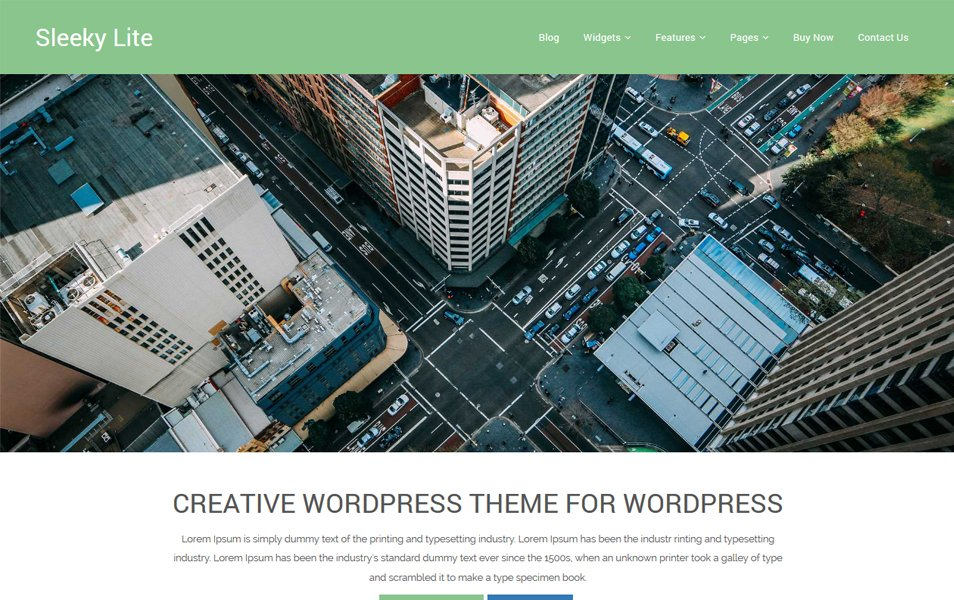Sleeky Responsive WordPress Theme