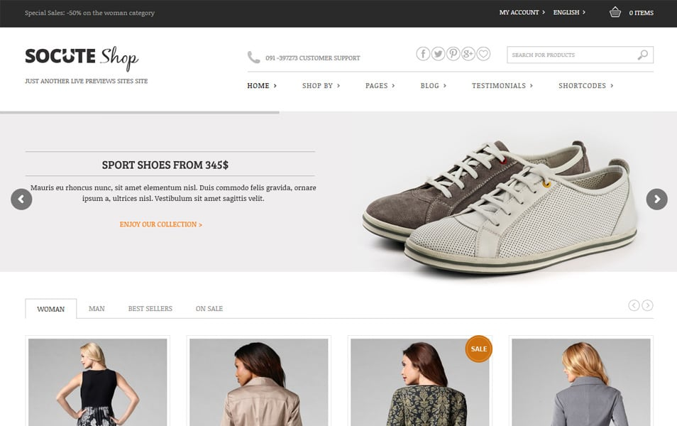 Socute Responsive WordPress Theme