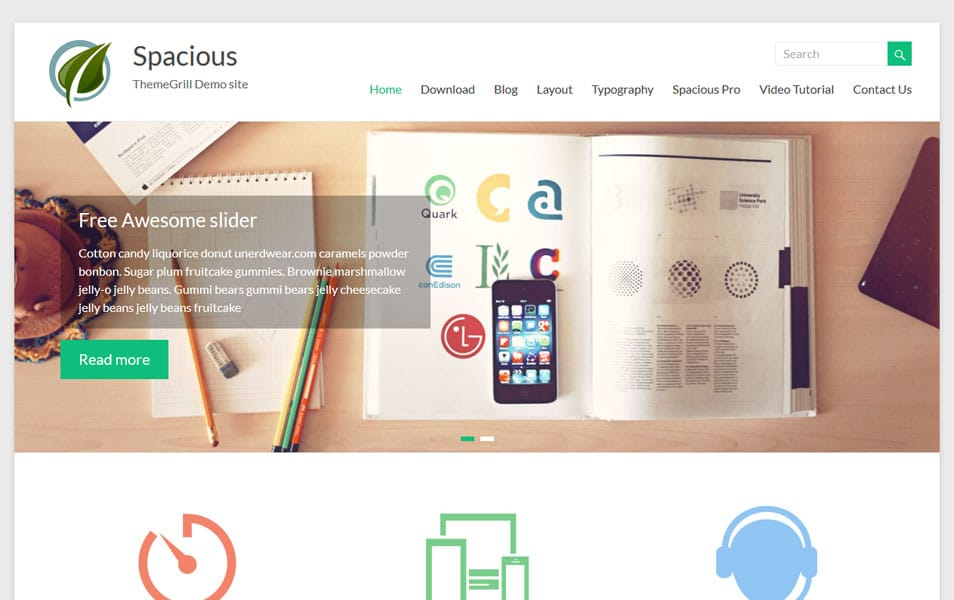 Spacious Business WordPress Theme