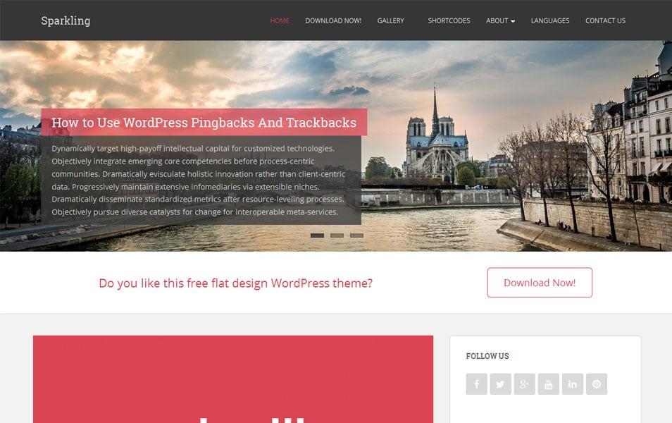 Sparkling Free Portfolio WordPress Theme