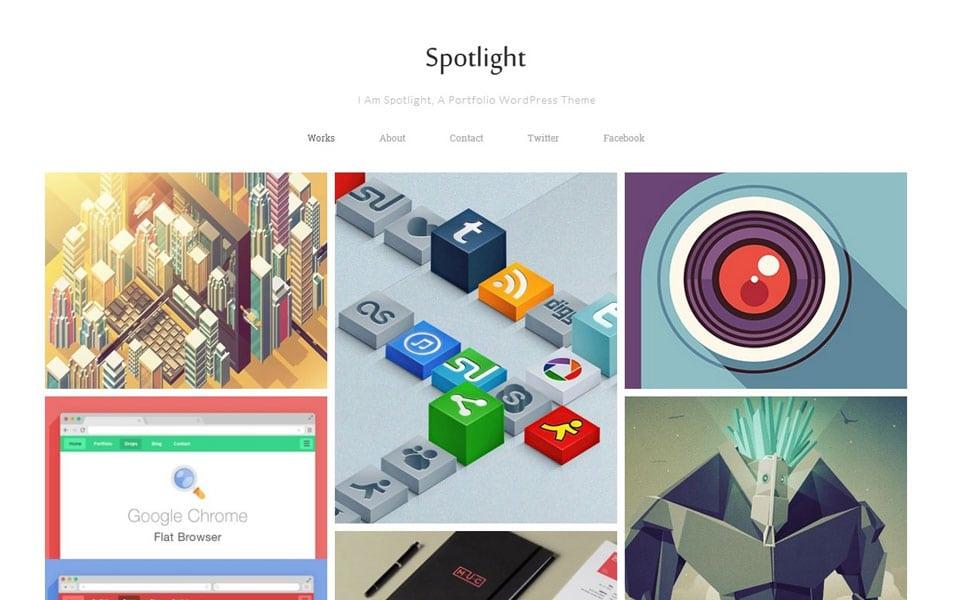 Spotlight Free Portfolio WordPress Theme
