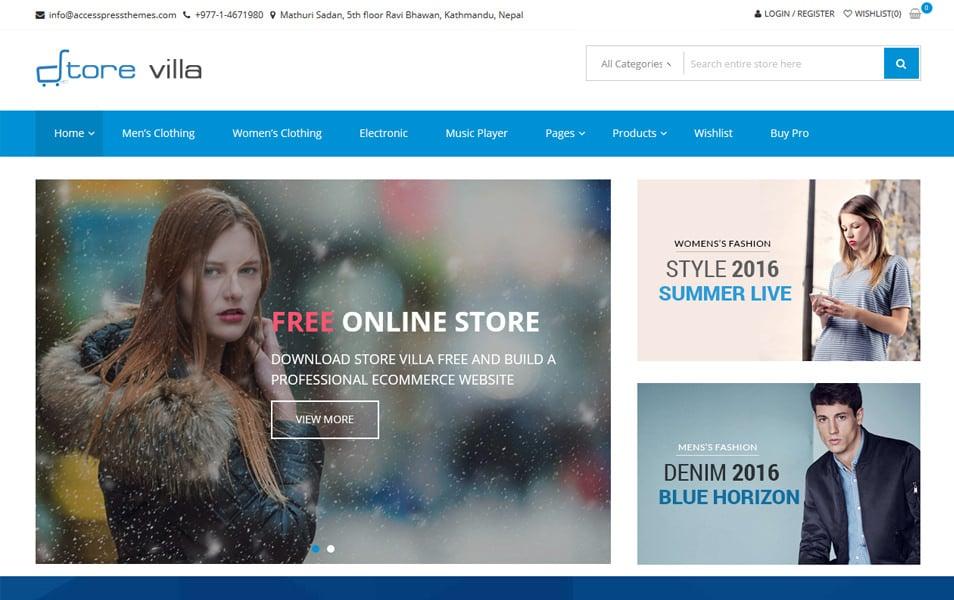 StoreVilla Responsive eCommerce Theme