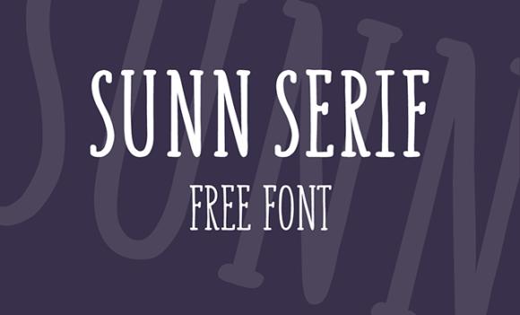 Sunn Serif font Preview