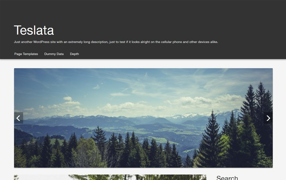 Teslata Responsive WordPress Theme