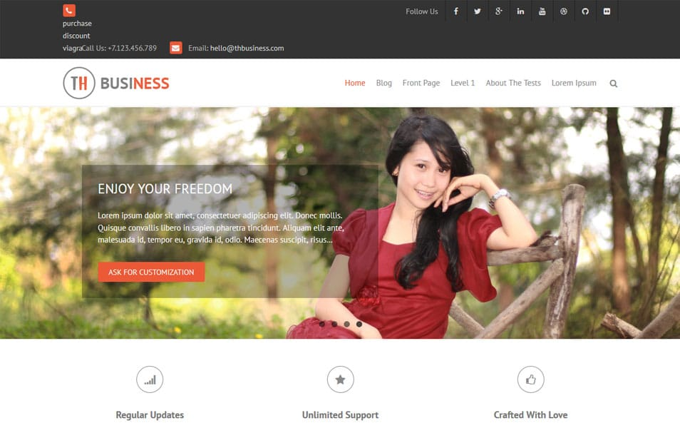 THBusiness WordPress Theme
