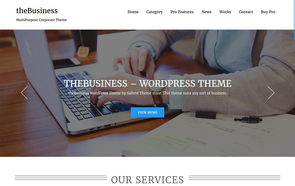 theBusiness Responsive WordPress Theme