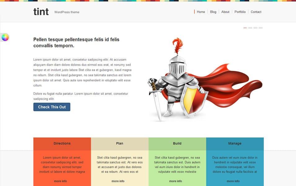 Tint Free Portfolio WordPress Theme