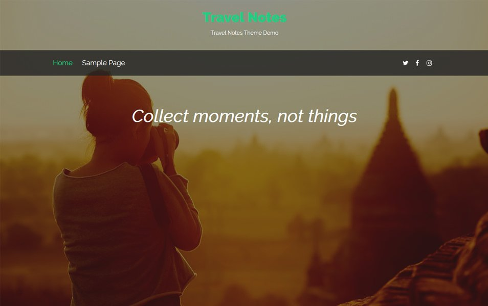 Travel Notes Responsive WordPress Theme