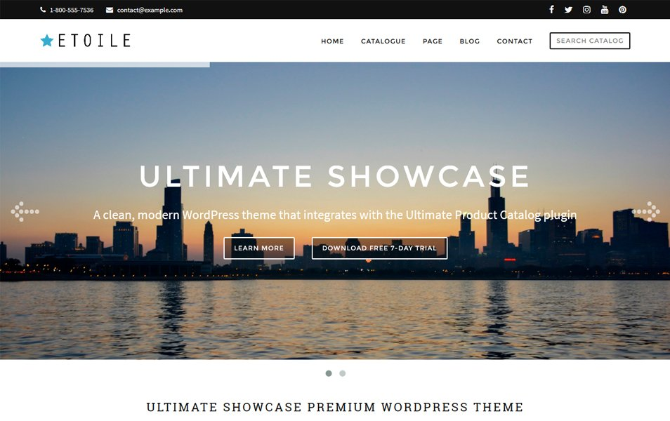 Ultimate Showcase Responsive WordPress Theme