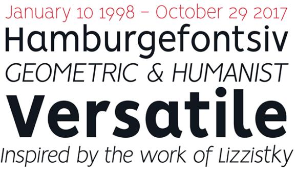 Vision font specimen 01