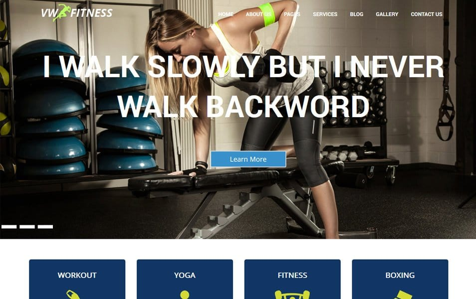 VW Fitness Responsive WordPress Theme