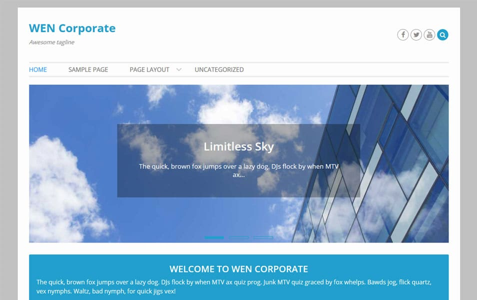 WEN Corporate WordPress Theme