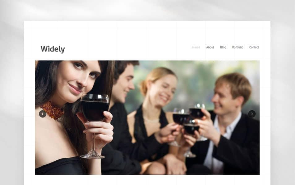 Widely Free Portfolio WordPress Theme