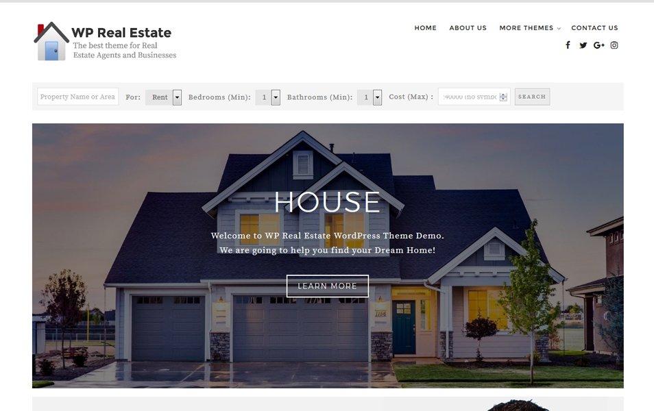 WP Real Estate Responsive WordPress Theme