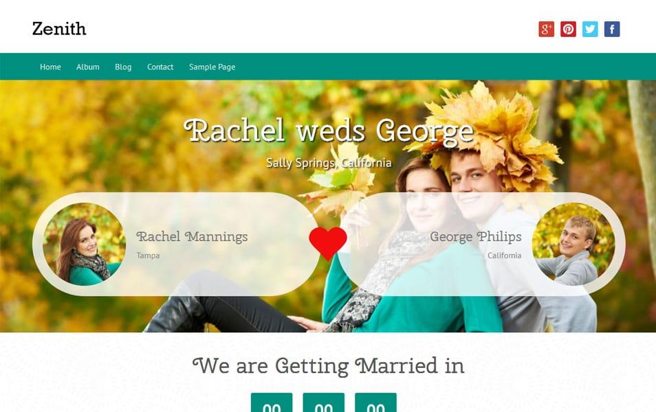 Zenith Free Portfolio WordPress Theme