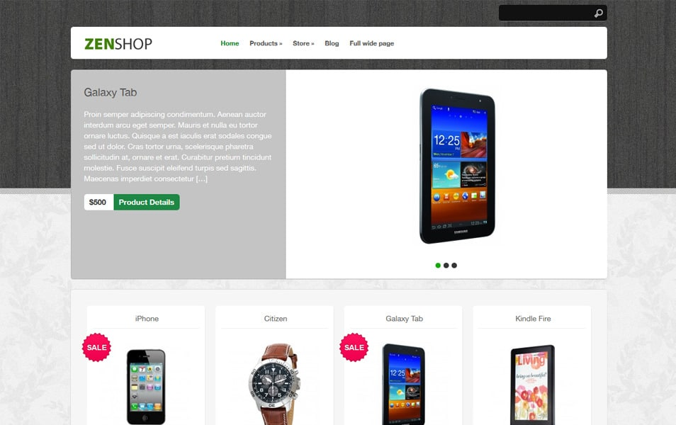 Zenshop Responsive WordPress Theme